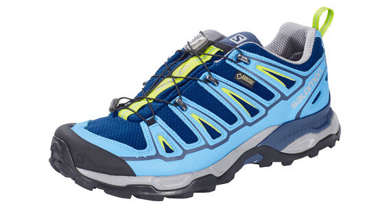 Salomon X Ultra 2 GTX Hiking Shoes Men midnight blue/process blue/green glow